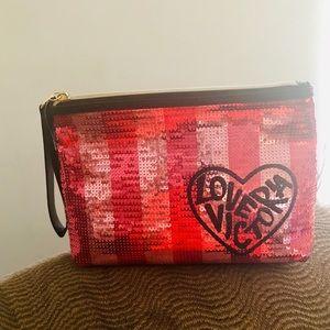 NWT Victoria's Secret Sequin Cosmetic Bag